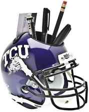 TCU HORNED FROGS NCAA Schutt Mini Football Helmet DESK CADDY