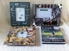 Lot Of 4 Sports Theme Picture Photo Frames: Tabletop And Wall Display Frames