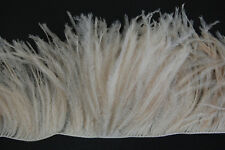 "36"" OSTRICH FEATHER FRINGE - BEIGE 3-6"" Craft/Pad/Trim"