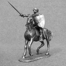 Medieval 1/32 Mounted Knight Horse Rider Metal Miniature Tin Toy Soldier 54mm