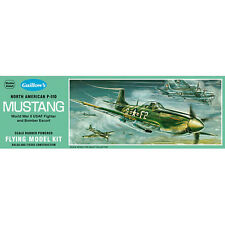 Guillows Kit P-51D Mustang 905 Powered Balsa Aircraft 1:25 Flying Model