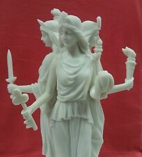 Hecate Hekate Triple Greek Ancient Goddess Statue Large Marble Finish #WU76641AA