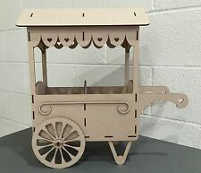 Y34 SWEET CANDY CART Wedding Party Birthday Unpainted MDF Table Display Stand