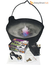 Large Bubbling Witches Cauldron Mist Light Up Halloween Party Decoration Prop