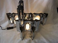 Mid Century 70er Tisch Lampe Licht Objekt Steck System 6 Teile # 1