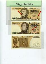 WORLD BANK NOTE - 1982 POLAND 500P DIFF GOVERNORS SIGN.UNC NICE NO # B207
