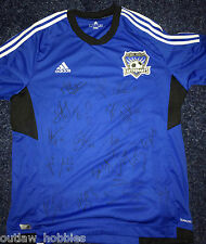 2013 San Jose Earthquakes Team Signed Autographed MLS Soccer Replica Jersey COA