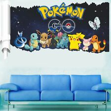 Pokemon Go Pocket Monster Pikachu Mural Wall Sticker Decal Kid Room Decor