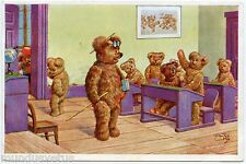 ARTIST SIGNED. ARTHUR THIELE. OURS HUMANISéS. SCHOOL. TEACHER .HUMANIZED BEARS.