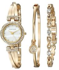Anne Klein Gold-Tone Bracelet and Ladies Watch AK-1868GBST