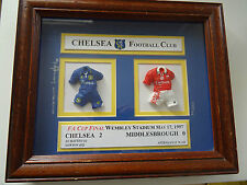 Rare CHELSEA Limited numbered framed Football Plaque Wembley 1997 FA CUP Final