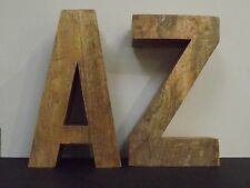 Large Wooden A/Z Bookend Ornament - 30 cm Tall
