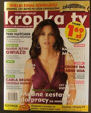 TERI HATCHER mag.FRONT cover 2011 Poland Carla Bruni,Johnny Depp,Hugh Jackman