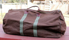 Vintage LL BEAN Brown Canvas Duffle Overnight Bag Made in USA