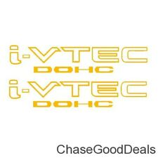 Two (2) GOLD HONDA I-VTEC DOHC Car Wall Vinyl Sticker Decal Window