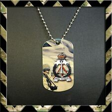 THE ROYAL PIONEER CORPS (RPC) DOG TAG NECKLACE/KEYRING (ARMY/HELP FOR HEROES)