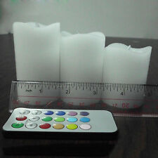 3* Electric Flickering LED Flameless Scented Remote Candles for Weeding Party