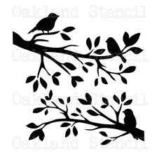 STENCIL birds on branches 12x12 for Painting Signs Wood Fabric Canvas Crafts