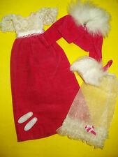 Vtg Barbie FRANCIE 70s Mod Doll Clothes Lot WALTZ IN VELVET Set 1970 1768