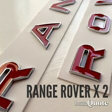 3D rouge & chrome bonnet boot lettres badge pour range rover sport 2005 - 2009