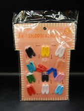 1960s vintage Mattel Barbie Junior Fashions Skipper & Skooter shoes MOC sealed !