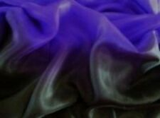 Purple Black 100% SILK Rectangle Belly Dance Dancing  Veils Wrap Scarf