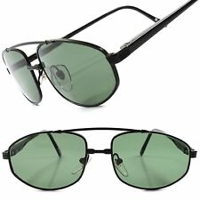Deadstock True Vintage Stylish Green Lens Black Mens 80s 90s Classic Sunglasses
