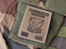 Patch Velcro - COMMANDOS MARINE - FRANCE FORCES SPECIALES - COS format OD KAKI