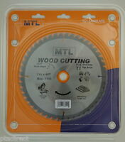 MTL brand 216mm x 48T x 30mm bore TCT Circular Chop Mitre Saw Blade for Wood