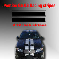 Pontiac G6 G8 Dual Racing Rally Stripes Vinyl Decal Sticker Car Fits All Years
