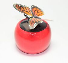 Flip Flap Wings Dancing Butterfly flying in a Red Pot - Bobble Plant Solar Toy