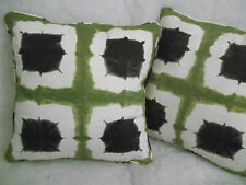 "SHOJI BY SCION 1 PAIR OF 18"" CUSHION COVERS - DOUBLE SIDED & PIPED!"