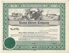 Laona Cheese Company (Durand Illinois).Unissued Stock Certificate