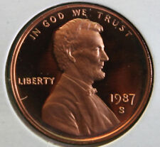 1987 S Lincoln Penny One-Cent Proof U.S. Mint Coin 1c from Proof Set