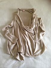 Whistles Beige Multiway Draped Cardigan In Size 10 S M Wool, Cashmere, Angora
