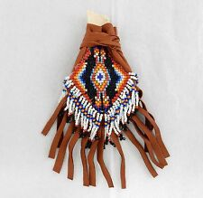 Handmade Indian Medicine Bag Native American Navajo Leather Beaded Cybill Smith