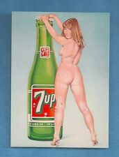 Sexy Girl  7up  Man Cave HQ Glossy   Fridge Magnet