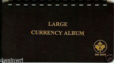 "Unisafe Currency Album - for Large Bills 4-1/4""x8"""