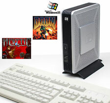 Dos viejos juegos PC equipo Hewlett Packard HP t5720 Windows 98 Doom Heretic ok