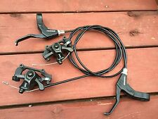 Hayes Brake MX4 Cable Actuated Disc Brakes adaptors and Tektro Levers mechanical
