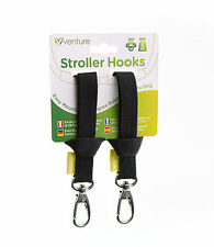 Venture Premium  Hook and Stroll Pram/Stroller/Buggy Clips/Hooks 2 PACK