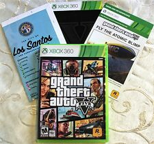 Replacement Case/MAP/BLIMP/MANUAL Grand Theft Auto V GTA 5 (Microsoft Xbox 360)!