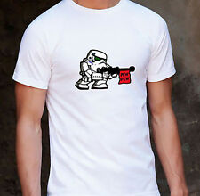 Star Wars Pew! Pew! Stormtrooper White Unisex T-Shirt Size SMALL