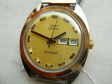 LARGEST VINTAGE,1967 TIMEX  DYNABEAT ELECTRIC,GP/SS, + BULOVA BRACELET,SERVICED