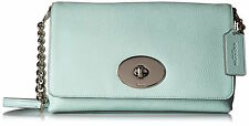 COACH CROSSTOWN SEAGLASS PEBBLED LEATHER CLUTCH CROSSBODY BAG 53083