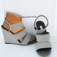 BALENCIAGA New sz 40 - 10 Authentic Designer Womens Sandals Heels Shoes open toe