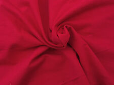 """Red Cotton French Terry Fabric by Yard 72""""W 4/16"""