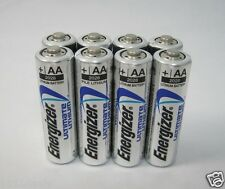 8 Energizer Ultimate Lithium AA Batteries