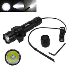 Tactical 5000LM CREE T6 LED Flashlight Torch Shotgun+Remote Pressure Swtch+Mount