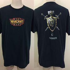 Rare 2002 World Of Warcraft Reign Of Chaos Alliance T Shirt XXL 2XL Blizzard